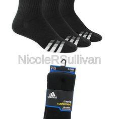 b1b68bbffa718 adidas Men's Cushioned Color Crew Socks (3-Pack) Black/White/Light