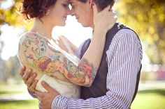 How I will look on my wedding day. Brides with tattoos are beautiful. Wedding Looks, Wedding Bride, Boho Wedding, Wedding Blog, Wedding Ideas, Wedding Things, Wedding Details, Wedding Stuff, Wedding Photos