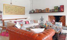 La casa de Juliana Lopez May / De cada uno de los múltiples viajes por el mundo hay un recuerdo, un objeto, una pieza artística.