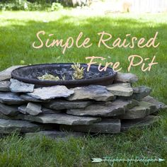 Simple Raised Fire Pit DIY - Flights Of Delight