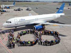 """100th A320 Aircraft """"BLUE 100"""""""
