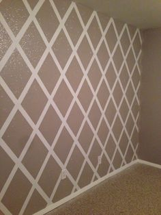 Metallic Gold Chevron Wall Using Benjamin Moore Studio