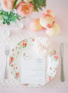 pretty spring place setting