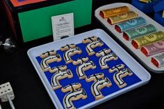 Water Works faucet cookies for a Monopoly party via Attention 2 Detail.