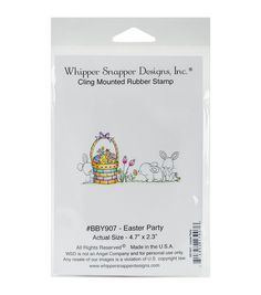 Whipper Snapper Designs Cling Stamp-Easter Party