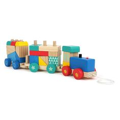 Small Foot Wooden Toys Train Pull Along Sorting Game -