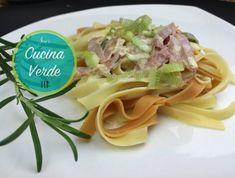 Sahne-Tagliatelle - Rezept von Joes Cucina Verde Pasta, Spaghetti, Ethnic Recipes, Food, Al Dente, Browning, Cooking, Hams, Eten