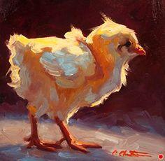 Sassy Chick von Cheri Christensen Oil ~ 6 x 5 – Malerei – Animals Chicken Painting, Chicken Art, Oil Painting Flowers, Oil Painting Abstract, Painting Trees, Painting Wallpaper, Body Painting, Art And Illustration, Art Watercolor