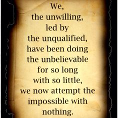 The Unwilling led by The Unqualified