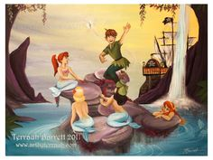 in the mermaid lagoon - disneys-peter-pan Fan Art