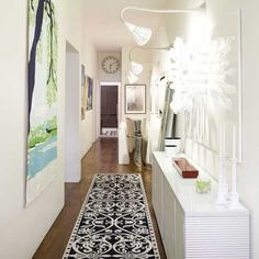 Five Small Hallway Ideas And Tips To Decorate Your Home. Easy Hallway  Decoration Ideas With Paintings, Flowers Rugs And Lights