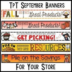 TpT Store Banners {Updated Monthly}