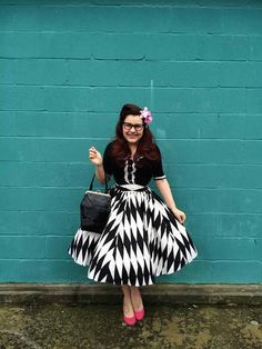 Hey, I found this really awesome Etsy listing at https://www.etsy.com/listing/222684373/black-and-white-harlequin-skirt