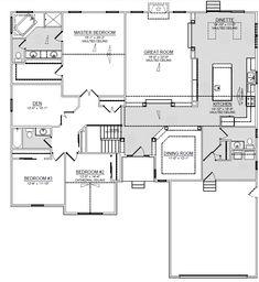 Columbia Floor Plan | Trinity Homes | Columbus, Ohio | Ranch Home | Layout