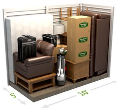 SELECTING THE RIGHT SIZE SELF STORAGE UNIT  with pictures/layouts