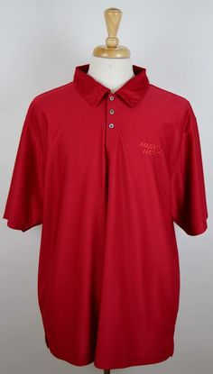 Miami Heat Ping Collection Men's Red Short Sleeve Polyester XXL 2XL Polo  #PingCollection #ShirtsTops