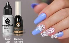 Gelpolish Blueberry Emotions (103265) & Sugar Look Design