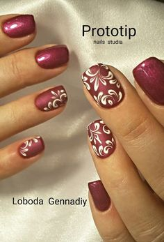 Ideas for manicure Red Nail Art, Red Nails, Hair And Nails, Fancy Nails, Cute Nails, Pretty Nails, Nail Art Arabesque, Nails Only, Diamond Nails