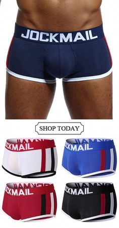 6ab8b33650 UP TO 52%OFF--Sexy Cotton U Convex Patchwork Striped Breathable Boxer  Underwear