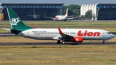 Lion Air (ID) Boeing 737-8GP(WL) PK-LKP aircraft, painted in ''80th Boeing Next-Generation 737'' special colors, rolling at Indonesia, Surabaya, Juanda Int'l Airport. 24/08/2017.