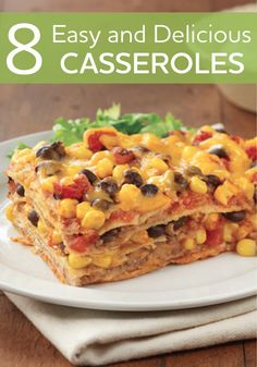 A complete meal in one pan! Try all these easy and delicious casseroles...your family will love them!