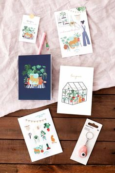 Mademoiselle Fleur de Saperlipapier : Une box DIY & papeterie Origami, Mademoiselle, Watercolor, Halloween, Paper, Books, Cards, Diy, Inspiration