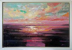 'Purple sunset', Oil painting by Ewa Czarniecka | Artfinder