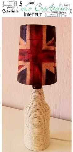 Lampe de table encordée drapeau anglais http://www.alittlemarket.com/boutique/createlier
