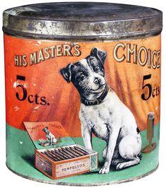 "Vintage Tin... ""His Master's Choice Cigar"" Tin"
