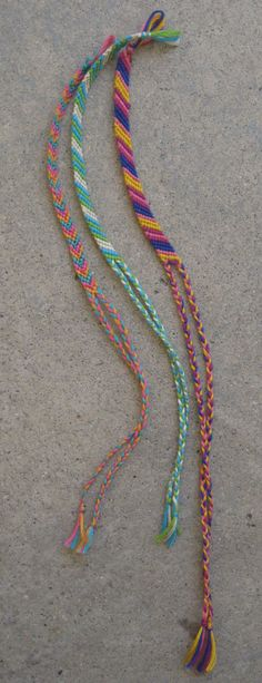 friendship bracelets used to swipe moms cross stitch thread to make these even made one for my hubby when we were dating