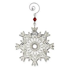 WATERFORD CRYSTAL 2017 Annual Snow Crystal Pierced Christmas Ornament $49 - FREE WORLD SHIPPING OR PICK UP (Compare elsewhere $65+) SHOP HERE: InterexHome.Com