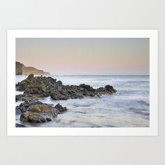 Volcanic rocks at sunset Art Print by Guido Montañés - $20.00