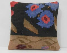 furnishing kilim pillows garden decoration blue couch pillow covers black living room decor cream oriental rugs floral shabby chic cushions