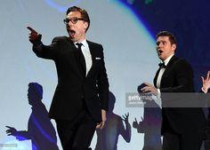 ニュース写真 : Actors Benedict Cumberbatch and Allen Leech...