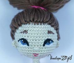 Patrón de crochet de la muñeca de la muñeca Sabrina Amigurumi por VenelopaTOYS