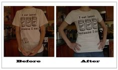 how to resize a T-shirt. A pretty clear tutorial, although I had some issues with making the underarm area come out nicely - I think that has to do with my fabric and how my shirt was finished, rather than the tutorial itself. Excited to wear my better-fitting tee! :)
