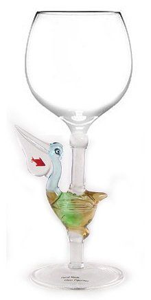 Hand Blown Pelican Wine Glass from Yurana Designs  W114 ** You can get more details by clicking on the image.