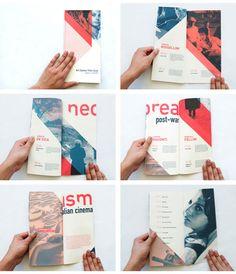 Italian Neorealism Cinema Series brochure layout 20 Best & Beautiful Brochure Design Ideas for Your Inspiration