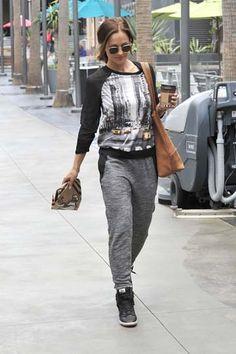 Minka Kelly wore head-to-toe Elie Tahari for DesigNation on her morning coffee run.
