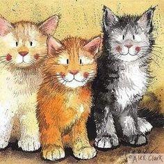 Trijulė | Alex Clark - Cats♥•♥•♥