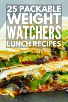 Looking for easy make ahead Weight Watchers lunch recipes you can meal prep to make your weight loss plans easy and delicious? Perfect for work or when you're on the go weve rounded up 25 fabulous recipes that include the total points (or SmartPoints w Weight Loss Meals, Weight Watchers Lunches, Plats Weight Watchers, Weight Watchers Meal Plans, Weight Watchers Diet, Weight Watchers Vegetarian, Weight Watcher Points, Weight Watchers Recipes With Smartpoints, Weight Watchers Motivation