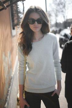 White Sweater, Big Shades