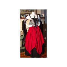 Pirate Corset Renaissance Witch Wench custom costume Dress Gown ❤ liked on Polyvore featuring costumes, womens disco costumes, disco costumes, ladies victorian costume, ladies halloween costumes and lady costumes