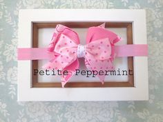 Pink Baby headband, newborn headband, toddler headband, pink bow headband,pink toddler headband,pink baby hair bow,pink baby head band