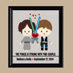Star Wars Wedding Gift Star Wars Anniversary by DaizyBlueDesigns
