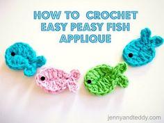 Make It: Crochet Fish Appliqué - Free Pattern & Tutorial •✿• Teresa Restegui http://www.pinterest.com/teretegui/ •✿•
