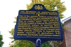 The Beginning of Agricultural Cooperative Extension Service Marker Photo, Click for full size