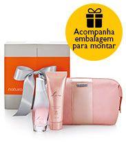 Presente Natura Luna - Desodorante Colônia + Sabonete Líquido + Nécessaire + Embalagem