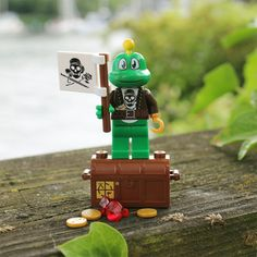 Arrrrgh Signal is ready to go on a treasure hunt! Oh, the adventures that Pirate Signal will see, and the treasure he will discover throughout the geocaching world!