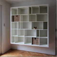 In previsione di fare la nuova libreria - (case e interni) - come trasformare Expedit Ikea (7)